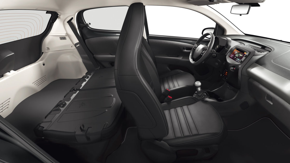 Peugeot 108 Private Lease interieur bagageruimte