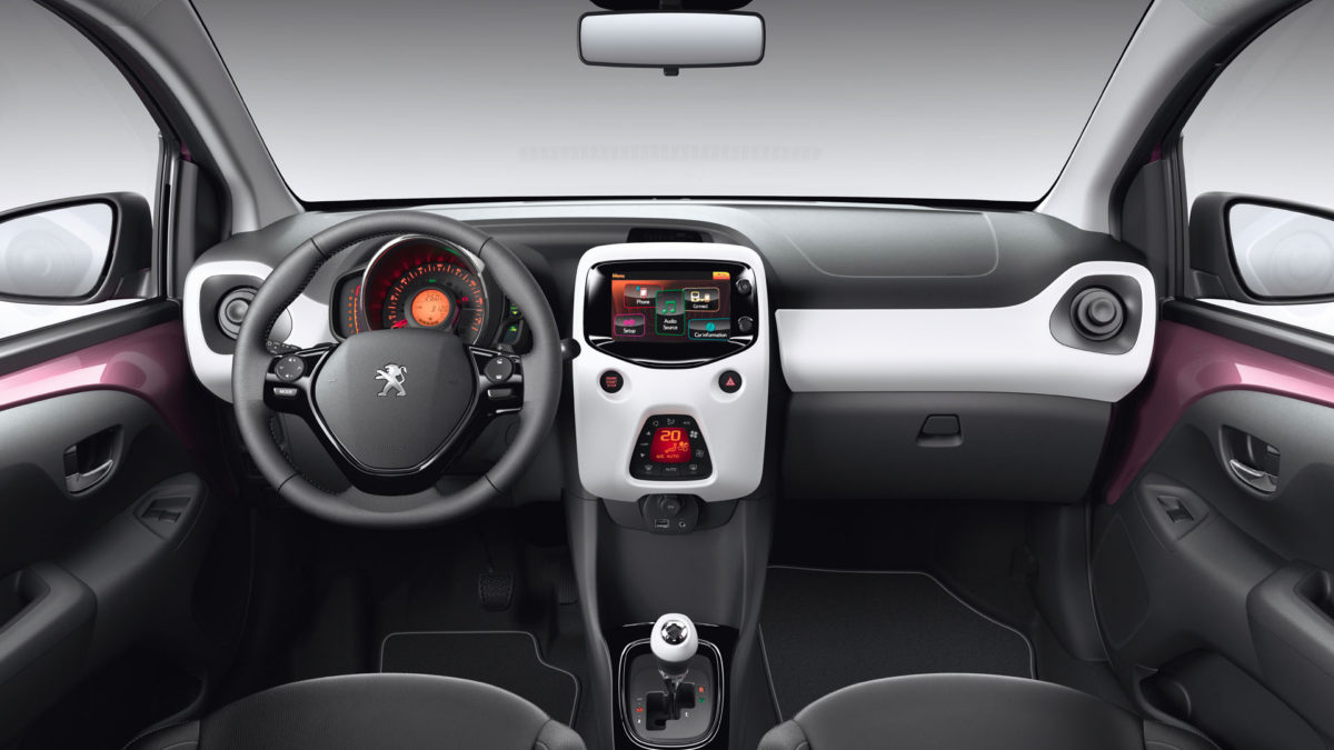 Peugeot 108 Private Lease interieur dashboard
